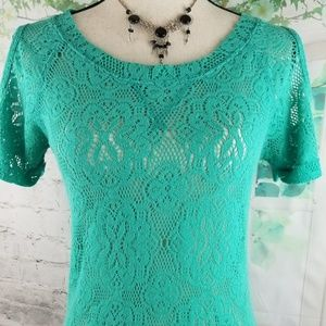 Miss Chievous Size S Green Cold Shoulder Sleeve